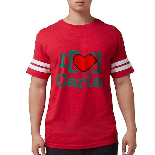 I Heart Carla Mens Football Shirt