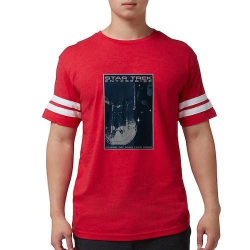 Retro Star Trek:ENT Poster Mens Football Shirt