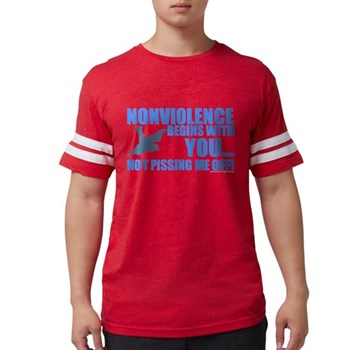 Nonviolence Begins with You.. Mens Football Shirt