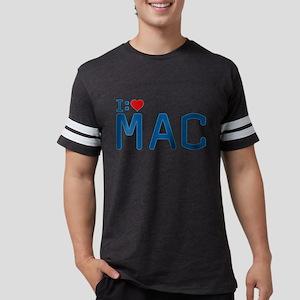 I Heart Mac Mens Football Shirt