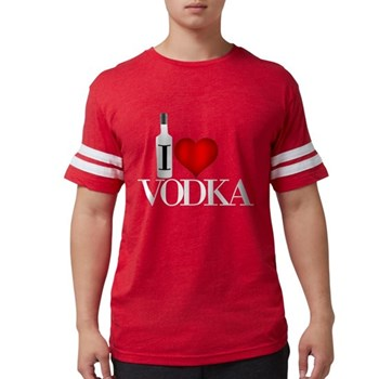 I Heart Vodka Mens Football Shirt