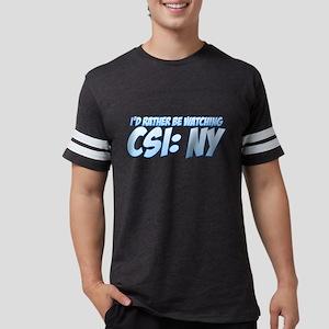 I'd Rather Be Watching CSI: N Mens Football Shirt