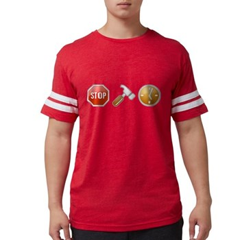 Stop - Hammer - Time Mens Football Shirt
