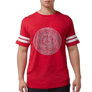 Aztec Sun Stone Calendar Mens Football Shirt