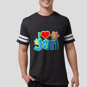 I Heart Jan Mens Football Shirt
