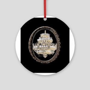 Paris Opera House Chandelier Round Ornament