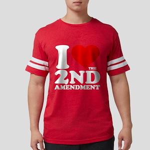 I Heart the 2nd Amendment Mens Football Shirt