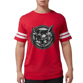 Distressed Wild Cat Stamp Mens Football Shirt