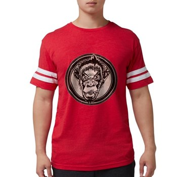 Distressed Wild Chimp Stamp Mens Football Shirt