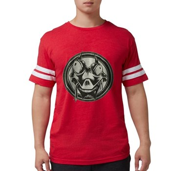 Distressed Wild Lizard Stamp Mens Football Shirt