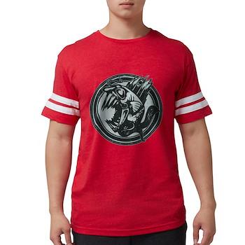Distressed Wild Piranha Stamp Mens Football Shirt
