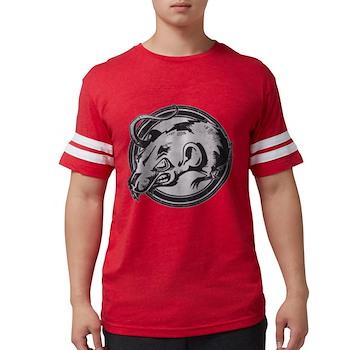 Distressed Wild Rat Stamp Mens Football Shirt