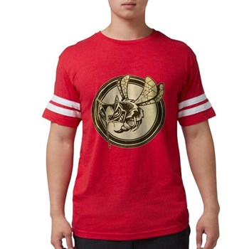 Distressed Wild Wasp Stamp Mens Football Shirt