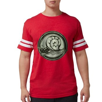 Distressed Wild Snail Stamp Mens Football Shirt