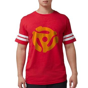 Orange Distressed 45 RPM Adap Mens Football Shirt