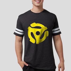 Yellow Distressed 45 RPM Adap Mens Football Shirt