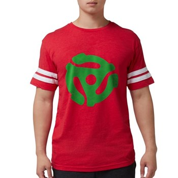 Green Distressed 45 RPM Adapt Mens Football Shirt