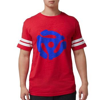 Blue Distressed 45 RPM Adapte Mens Football Shirt