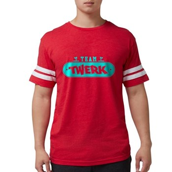 Neon Turquoise Team Twerk Mens Football Shirt