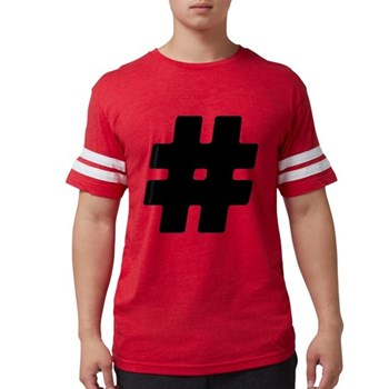 Black #Hashtag Mens Football Shirt