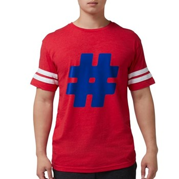 Blue #Hashtag Mens Football Shirt