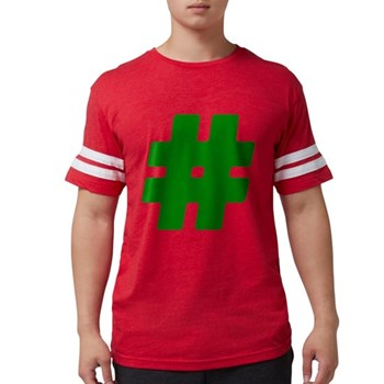 Green #Hashtag Mens Football Shirt