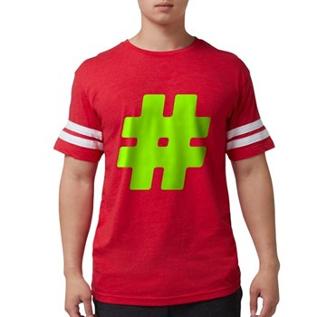 Neon Green #Hashtag Mens Football Shirt