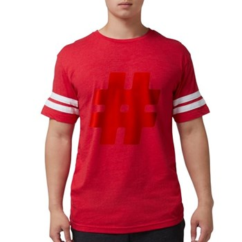 Red #Hashtag Mens Football Shirt