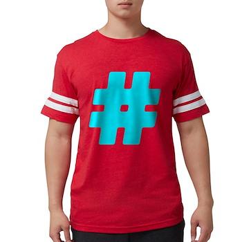 Turquoise #Hashtag Mens Football Shirt