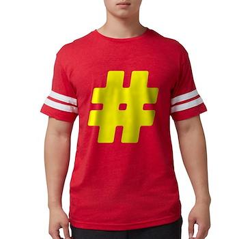 Yellow #Hashtag Mens Football Shirt
