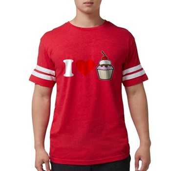 I Heart Cupcake Mens Football Shirt