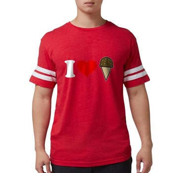 I Heart Ice Cream Cone Mens Football Shirt