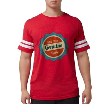 Retro Genuine Quality Since 2 Mens Football Shirt