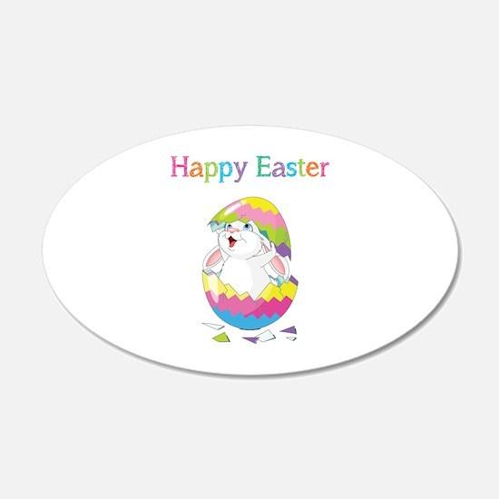 Happy Easter 22x14 Oval Wall Peel