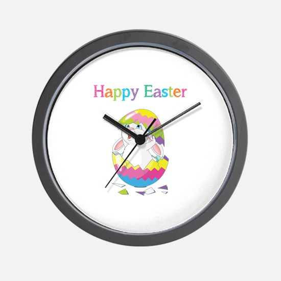Happy Easter Wall Clock