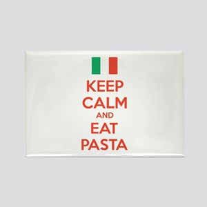 Keep Calm And Eat Pasta Rectangle Magnet