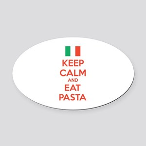 Keep Calm And Eat Pasta Oval Car Magnet