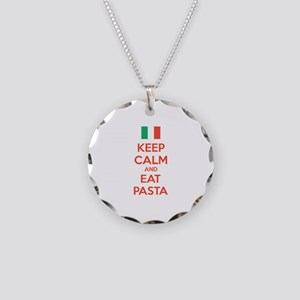 Keep Calm And Eat Pasta Necklace Circle Charm