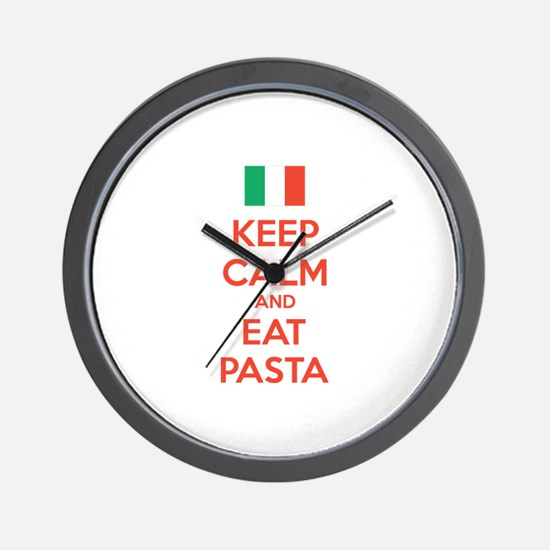Keep Calm And Eat Pasta Wall Clock