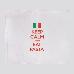 Keep Calm And Eat Pasta Stadium Blanket