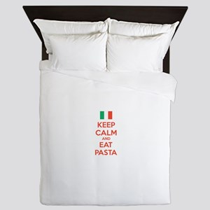 Keep Calm And Eat Pasta Queen Duvet