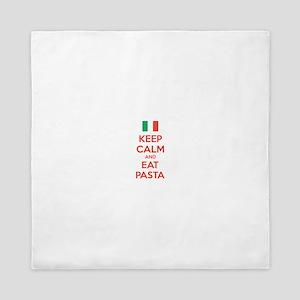 Keep Calm And Eat Pasta Queen Duvet