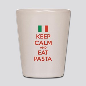 Keep Calm And Eat Pasta Shot Glass