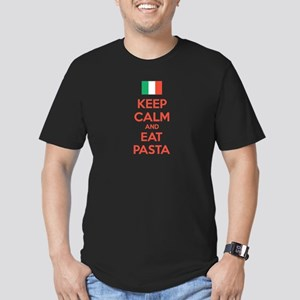 Keep Calm And Eat Pasta Men's Fitted T-Shirt (dark
