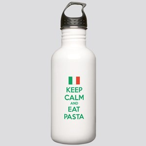 Keep Calm And Eat Pasta Stainless Water Bottle 1.0