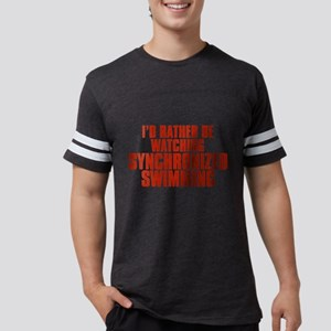 I'd Rather Be Watching Synchr Mens Football Shirt
