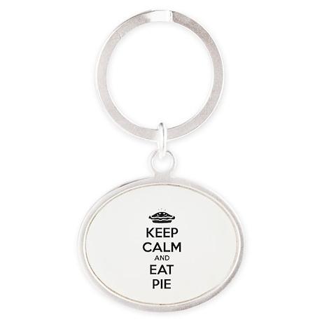 Keep Calm And Eat Pie Oval Keychain
