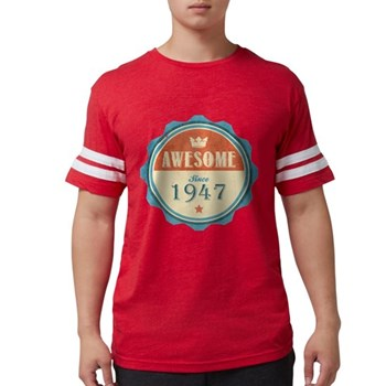 Awesome Since 1947 Mens Football Shirt