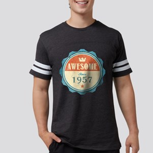 Awesome Since 1957 Mens Football Shirt