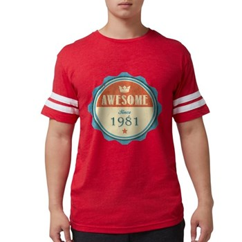 Awesome Since 1981 Mens Football Shirt